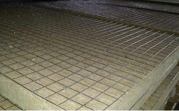 钢网复合外墙岩棉板图片